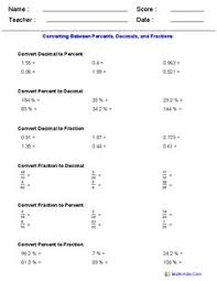comparing fractions u0026 decimals worksheets printables pinterest
