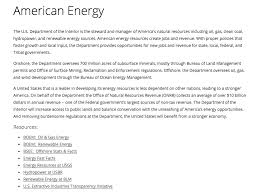 Us Department Of The Interior Bureau Of Land Management Fossil Fuels Lead The Interior Department U0027s New Energy Webpage