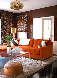Living Room With Orange Sofa Cool Living Room Design With Orange Sofa 72 On Home Decoration