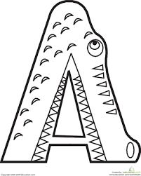 Letter A Coloring Page Funycoloring A Coloring