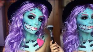 pop art zombie makeup tutorial melania yaneva youtube
