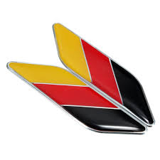 Germany Flag Colors 2018 3d Car German Germany Flag Sticker Badge Emblems Decal Decor