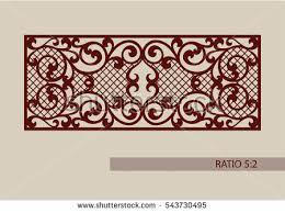lace ornament template decorative panels image stock vector