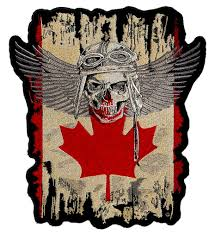 Dominican Republic Flag Patch Large Canadian Flag Fighter Pilot Skull With Wings Patriotic Biker