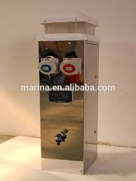 Marine Power Pedestals Marine Water And Electricity Steel Power Pedestal High Quality For