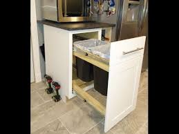 Kitchen Pull Out Cabinet by How To Convert Any Kitchen Cabinet Into Pull Out Wastebasket Youtube
