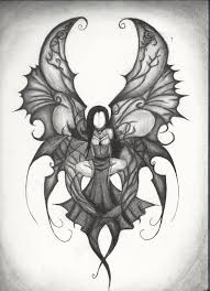 dark pencil drawings dark angel by demonportal d4lz016 900 1243