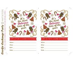host a cookie exchange free printables