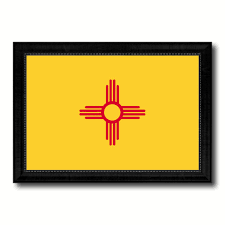 new mexico home decor new mexico state flag canvas print picture frame gift ideas home