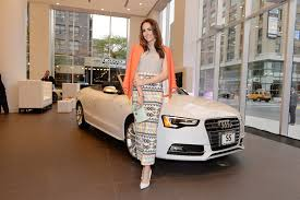 audi dealer nyc louise roe in audi and volkswagen dealership opens in nyc zimbio