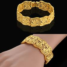 gold charm link bracelet images 19cm flower charm gothic chain link bracelet for women men gold jpg