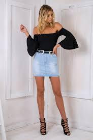 light wash denim skirt washed denim mini skirt light blue stelly