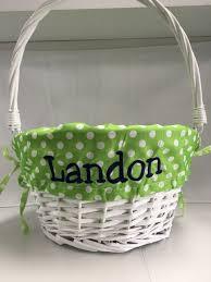 blank easter baskets blank easter basket white wicker basket polka dot