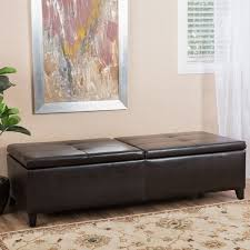 Large Storage Ottoman Bench Alfred Faux Leather Large Storage Ottoman Bench Christopher