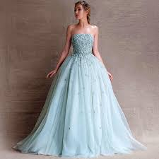 2015 new arrival selling strapless light blue fresh look color