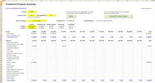 Estate Investment Spreadsheet Template by Rental Property Calculator Estate Investment Excel