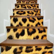 Leopard Print Home Decor 2018 Home Decor Leopard Print Diy Stair Stickers Leopard Print