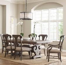 seven piece dining set with crawford refectory table and fulton