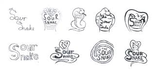the sour snake candy package u0026 logo design by tanner serpa
