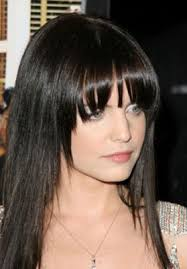 should i get bangs for my hair to hide wrinkles pale skin and blue eyes should i dye my hair black bed head