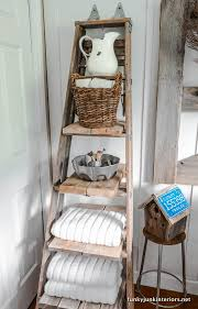 Towel Storage For Bathroom by Best 25 Bathroom Ladder Shelf Ideas On Pinterest Bathroom