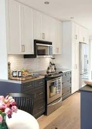 Galley Kitchen Remodel Ideas Pictures White Cabinet Galley Kitchen Inspiration For A Contemporary Galley