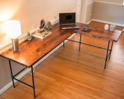 industrial desk l reclaimed desk industrial wood desk industrial desk wood office