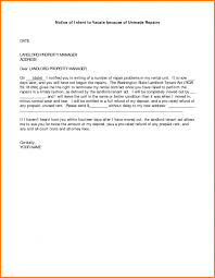 template notice of intent to vacate