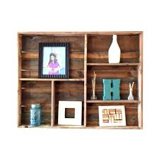 reclaimed wood wall shelf large farmhome decor