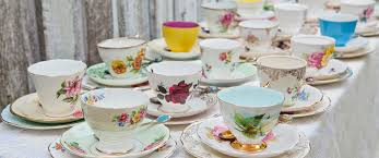 all the pretty things at vintage china hire valley