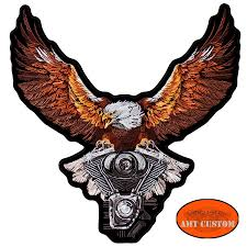 motorcycle jacket vest eagle patch biker jacket vest amt custom shop