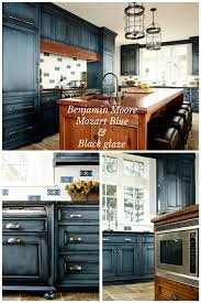 Blue Cabinets Kitchen by Benjamin Moore