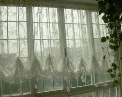 White Balloon Curtains Sale Shabby Chic Ivory Balloon Curtain Pull Up Panel Fixed