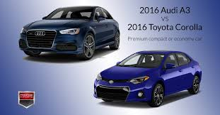 toyota foreigner 2016 audi a3 vs 2016 toyota corolla premium compact or economy