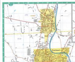 cortland u0026 chenango counties paper wall map jimapco