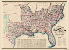 United States Map With Lakes And Rivers by Civil War Map Southern State Railroad Stations 1862