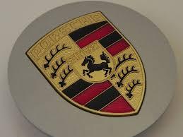 stuttgart porsche logo new 928 944 964 968 986 993 996 silver center cap w full colored