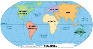 map with oceans map of seven continents and oceans free printable maps