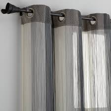 rideau fils ray罠 罌 oeillets gris 繪cru anthracite 3suisses