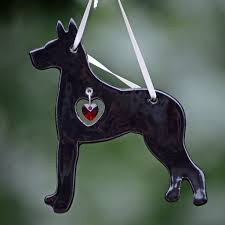 porcelain great dane ornament black animals and pets great
