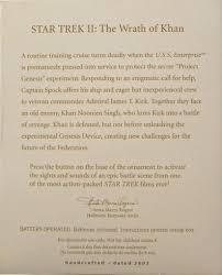 wrath of khan hallmark trek ornaments