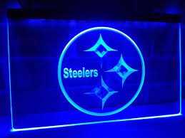 ld240 pittsburgh steelers logo nr led neon light sign home decor