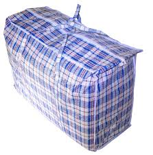 jumbo plastic checkered storage laundry shopping bags