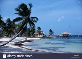 hotel beach san pedro ambergris caye belize stock photo royalty