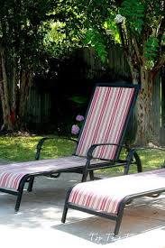 patio furniture chaise lounge makeover with new fabric