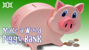 Free Easy Woodworking Projects For Gifts by Make A Wooden Piggy Bank Youtube