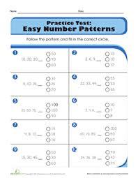 pattern grading easy practice test easy number patterns worksheet education com