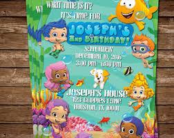 bubble guppies birthday invitation bubble guppies invite