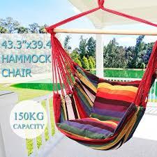 siege suspendu jardin tempsa 110x100cm grand hamac chaise siège suspendu balançoire