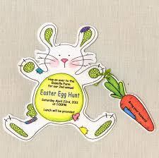 Birthday Invitation E Card Unique Easter Bunny Invitation Card Sample With Bunny Shape And